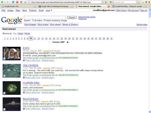 Google Video Suche