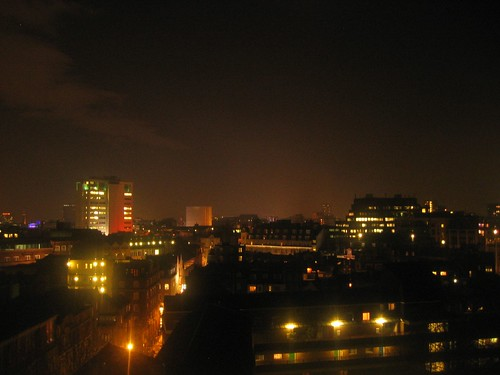 London - A view from my hotel room by night