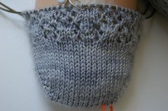 Snowflake Lace sock in Lotus Yarns Aura