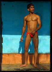 Vinod, pehlwan (designldg) Tags: portrait india man varanasi wrestler 2b fundoshi benaras भारत virile abigfave indiasong thebestofday gününeniyisi