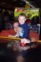 Air Hockey with Daddy 1