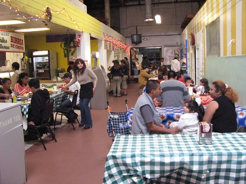 Stalls and Tables in the Imperial Farmers' Market building