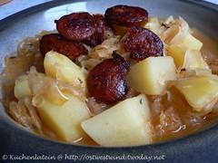 ©Sauerkrautsuppe mit Chorizo-Chips