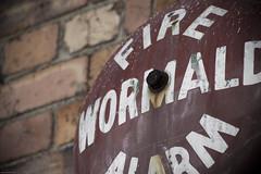 I wonder if it still works... (Seb Cooper) Tags: old red alarm newcastle fire rust bell bricks wormald vinyetting
