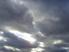 Grey sky () Tags: sky dark grey break shine wide