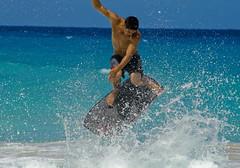 kua bay030 (nia-briana) Tags: park boy beach hawaii bay day state sunny kai midair bigisland kona kailua kua bodyboard kekaha micahm sandslide niabriana