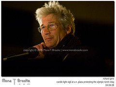Richard Gere (SFMONA) Tags: sf sanfrancisco celebrity politics protest tibet actor humanrights prettywoman richardgere olympictorchrelay