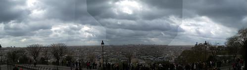 Panorámica desde el Sacre Coeur de Paris (abril, 2007)