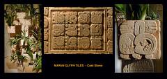 Tile detail (michaelgoard.com) Tags: garden mexico concrete temple ancient artist maya aztec designer landscaping decorative yucatan tiles mayan paving custom precolumbian hieroglyphics mesoamerican glyphs newworld caststone michaelgoard