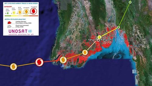 Google Earth cyclone path
