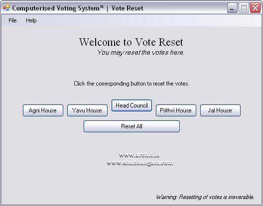 Vote Reset
