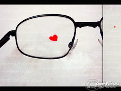 Searching for your love  (Crazy Princess) Tags: red white love for glasses heart your searching crazyprincess