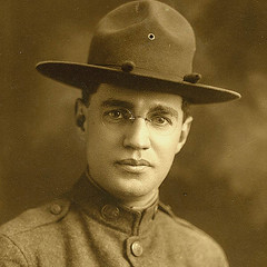 WWI soldier Brooklyn w rl fp pz  portrait EMAIL (pince_nez2008) Tags: soldier army glasses wwi soldiers eyeglasses eyewear doughboy rimless pincenez noseclip noseeyeglasses