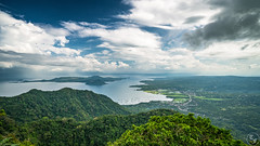 Green Fields, Blue Water (Terra Firma Productions) Tags: landscape landscapes lake lakes mountain mountains volcano volcanoes blue green field fields water afternoon philippines sun sunny bright sony sonyalpha sonya7 sonya7ii adobe photoshop lightroom photo photography adobephotoshop adobelightroom landscapephotography