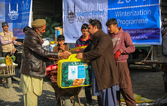 Islamic Relief distributes winterization kits including blankets and food to the people in Kabul, Afghanistan