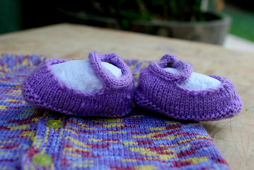 Slippers and Cardi for Addison
