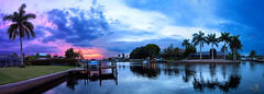sunset at the dock (t0m_ka) Tags: blue sunset red vacation sky panorama usa sun house rot america dark boot boat dock sonnenuntergang florida urlaub magenta himmel haus palm lila palmtree villa blau amerika sonne palme dunkel steg capecoral ba3811696668
