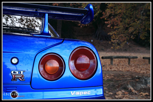 nissan skyline gtr r34 blue. Nissan Skyline GTR R34 V Spec Bayside Blue