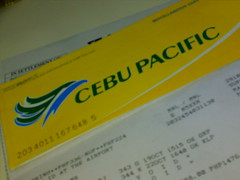 My plane ticket to Kalibo!
