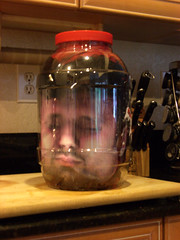 Head in a Jar on the cutting board (cosmosjon) Tags: halloween face scary head creepy spooky gross sick prop severedhead frightening severed gory specialeffect decapitated ooky decapitate halloweendecoration headinajar fakehead halloweenprop facetexturemap