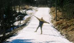 Jim on the Cross Country Ski Trail in Frognerseteren Oslo Norway (litlesam1) Tags: oslo norway europe scandanavia