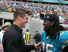 Tim Tebow and Reggie Nelson (minds-eye) Tags: football famous nfl trophy heisman timtebow reggienelson