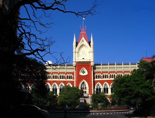 old city travel blue trees red sky urban india building green architecture justice shadows wikipedia law kolkata calcutta westbengal judiciary