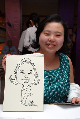 Caricature Singapore Swimming Club NYE 2