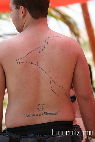 Man Back Pisces Tattoo