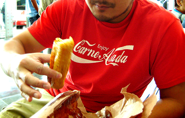 Me Eating a Fried Tamale