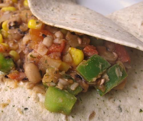 vegan vegetable bean burritos