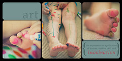 {art} (.{kim unscripted}.) Tags: color art feet collage children storyboard markers tattoart sywbppsb