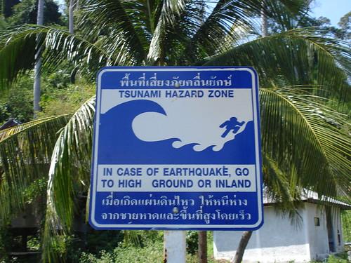 peligro, tsunami