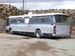 JBs` Bus (rodeochiangmai) Tags: newmexico bus vintage grey transportation generalmotors motorvehicle