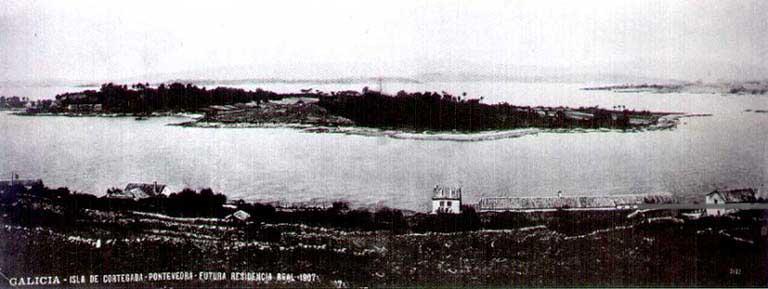 La isla de Cortegada en 1907