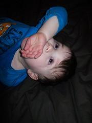 361 - Watching TV and sucking my hand (momtodex2) Tags: dex dex365 feb365