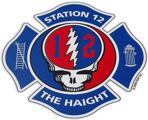San Francisco Fire Department (SFFD - Station 12, The Haight) Grateful Dead Steal Your Face