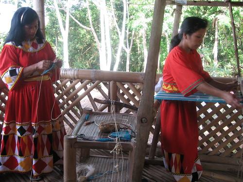 women weaving rural boracay woman philippines boracay pinoy pinay filipinos traditional