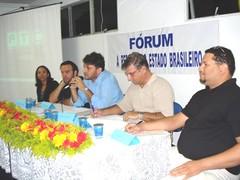 II forum reforma estado brasileiro: Eliana Silva Santos, Fábio Mansano, Carlos Perez, Charles Santiago, Enoch Filho