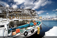 Shakotan Fishing Village (Christopher Chan) Tags: travel snow glass japan canon boat fishing asia hokkaido peninsula 1022mm hdr buoy 30d shakotan