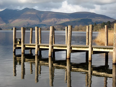Lodore Falls jetty, Derwentwater (mcgin's dad) Tags: mr jetty cumbria derwentwater reflexions lodorefalls digitalcameraclub abigfave canondigitalixus70 100commentgroup mygearandmepremium