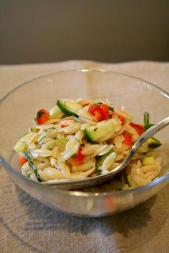 orzo pasta salad 009