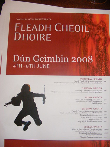 Launch of 2008 County Derry Fleadh in Dungiven May 2008 - Poster