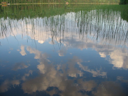 Reflections of clouds