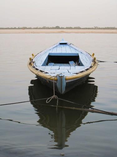 A boat awaits its next customer