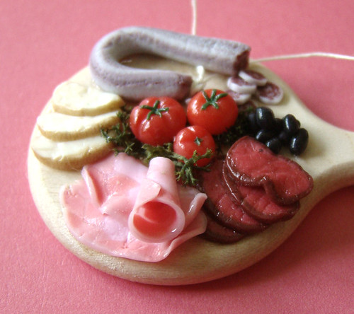 Miniature Meats Platter by PetitPlat - Stephanie Kilgast, on Flickr