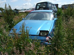 Ford Probe in the scrapyard (Scrawb) Tags: ireland ford probe junkyard scrapyard fordprobe kildare fordcars oldfordcars probecar
