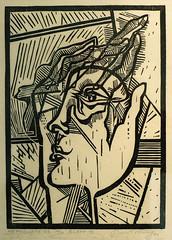 Mephausto (sring77) Tags: art graphics kunst grafik 1983 woodcut xylograph holzschnitt  druckgrafik  horstring  mephausto