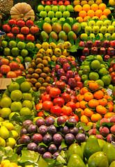 the importance of the pumpkin (Ezio Beschi) Tags: barcelona red orange verde green colors fruits yellow spain market giallo rosso frutta colori mercato boqueria barcellona spagna arancione