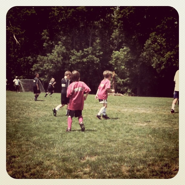 Aidan playing soccer